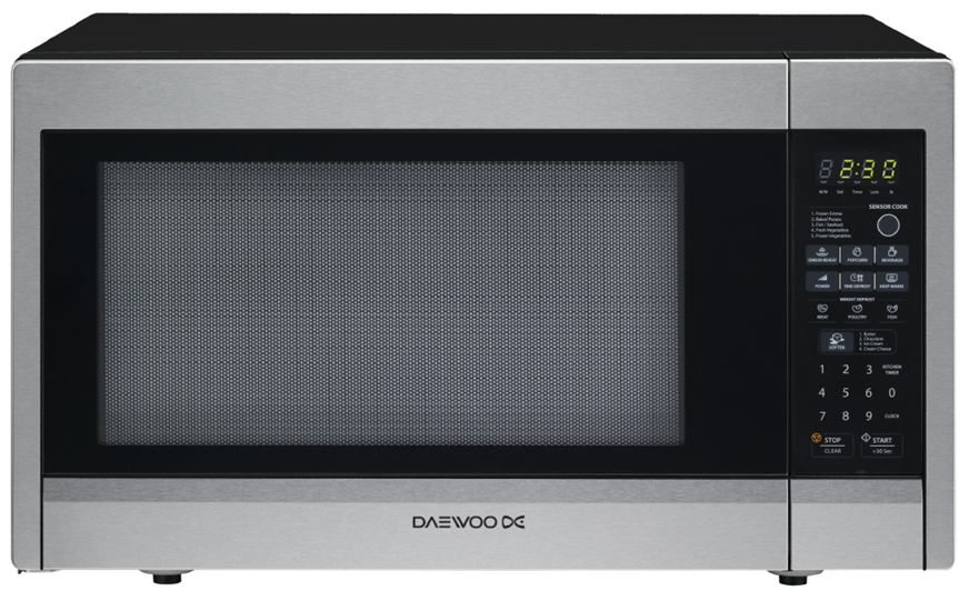 Daewoo Microwave (KOR-22AS) Basic 1000 W - Silver   Xcite Alghanim