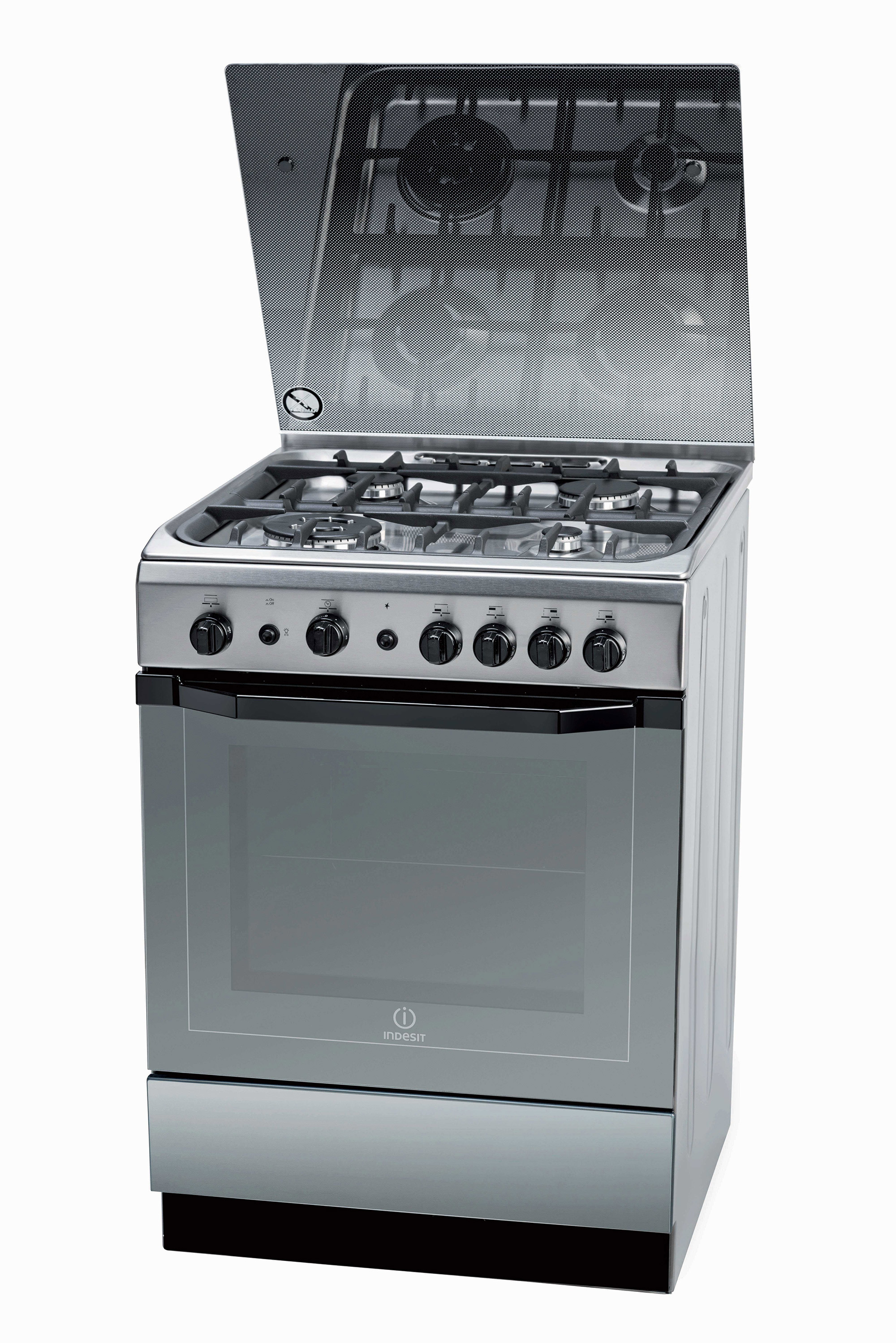 Indesit Gas Cooker 60 x 60 + Indesit Stainless Steel 60cm ...