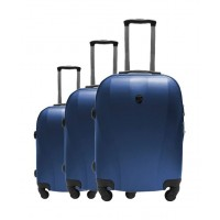1d4aeff8b مجموعة حقائب السفر يو إس بولو كابادوكيا الصلبة - ٣ حقائب - بحري (79X46X27CM)