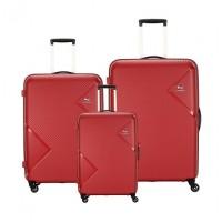afe57c69c مجموعة حقائب زاك الصلبة مع عجلات دوارة من كاميليانت - ٣ حبات - أحمر