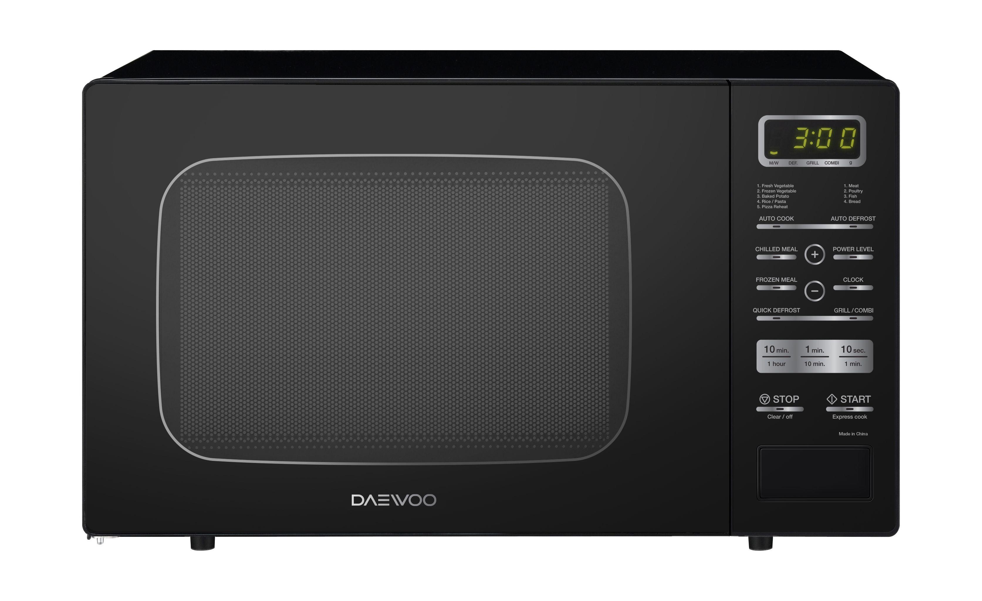 Daewoo 26L 900W Grill Microwave (KQG-9GPBB) – Black | Xcite Alghanim