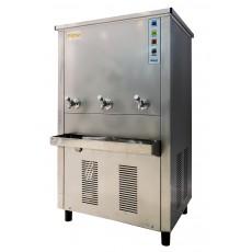 Wansa Gold Floor Standing Stainless Steel Water Cooler with 3 Taps - 200L