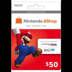Nintendo eShop Card - 50 USD (U.S. Account)