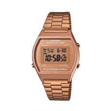 Casio Vintage Series Digital Gold 35mm Square Unisex Watch - (B640WC-5ADF)