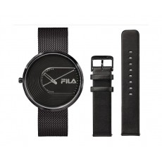 FILA 40mm Analog Unisex Mesh Watch + Leather Bands - 38178003