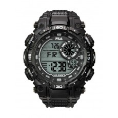 Fila 53mm Gent's Digital Rubber Sports Watch (38826003) - Black