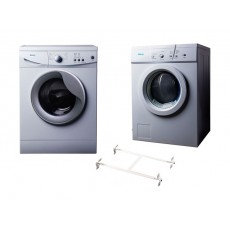 Wansa Gold WGFL60105WHT-C10 Front Load Washer 6kg + Wansa Gold WGFVD603 Air Vented Dryer 6kg + Wansa Washer and Dryer Stacking Unit
