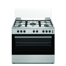 Wansa 90x60cm 5 Burners Free Standing Gas Cooker (WCT9502124X) – Stainless Steel
