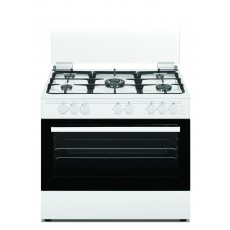 Wansa 90x60cm 5 Burners Free Standing Gas Cooker (WCT9502124W) – White