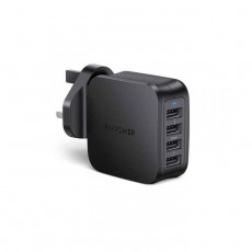 RAVPower 40W, 4 USB Ports Wall Charger (RP-PC101BK) - Black