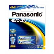 Panasonic Evolta AAA Alkaline Battery - Pack of 2 (LR03EG/2B)