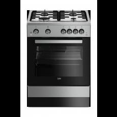 Beko 60X60  4 Burner Gas Cooker (FSGT61121DXL) - Grey