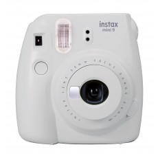 Fujifilm Instax Mini 9 Camera - Smokey White Front View