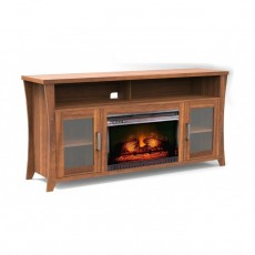 """Buy Wansa 80"""" Wood TV Stand with Fireplace in Kuwait   Buy Online – Xcite"""