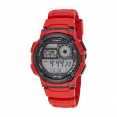 Casio Digital Gents Watch 44mm GRO with Resin Strap - Red