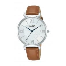 Alba 34mm Ladies Analog Leather Fashion Watch - AG8K79X1