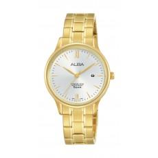 Alba Ladies Casual Analog 30 mm Metal Watch (AH7N82X1) - Gold