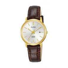 Alba 28mm Analog Ladies Leather Watch (AH7R58X1) - Brown