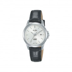 Alba 29mm Analog Ladies Leather Watch (AH7S53X1) - Black