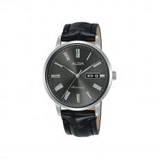 Alba 40mm Analog Gents Leather Watch (AL4133X1) - Black