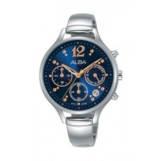 Alba 36mm Chronograph Ladies Leather Fashion Watch - AT3F01X1