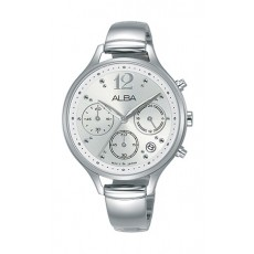 Alba 36mm Chronograph Ladies Leather Fashion Watch - AT3F05X1