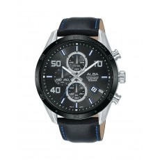 Alba 100mm Chronograph Gents Leather Fashion Watch (AM3677X1)