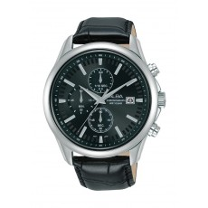 Alba 44mm Gent's Chronograph Leather Casual Watch - (AM3699X1)