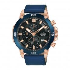 Alba 45mm Chronograph Gents Leather Fashion Watch (AM3740X1)