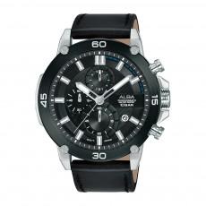 Alba 45mm Chronograph Gents Leather Fashion Watch (AM3741X1)