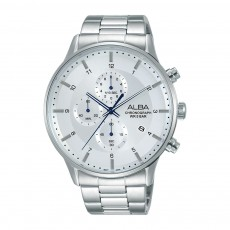 Alba 44mm Gent's Metal Chronograph Casual Watch - AM3767X1
