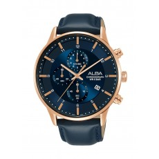 Alba 44mm Gent's Leather Chronograph Casual Watch - AM3768X1