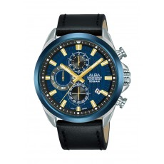 Alba 43mm Gent's Chronograph Leather Casual Watch - AM3789X1