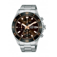 Alba 42mm Gent's Metal Chronograph Casual Watch - AM3807X1