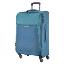 American Tourister Southside Spinner Soft front side Luggage Blue xcxite buy in kuwait