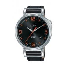 Alba Quartz 43mm Analog Gent's Leather Watch - AS9F87X1