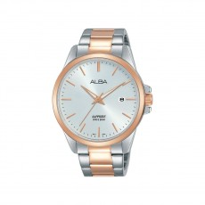 Alba 41mm Analog Gents Metal Watch (AS9J04X1) - Silver/Rose-Gold