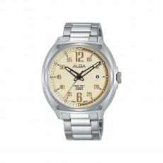 Alba 42mm Analog Gents Metal Watch (AS9J35X1) - Silver