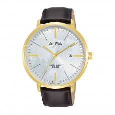 Alba 44mm Analog Gents Leather Casual Watch (AS9J88X1)