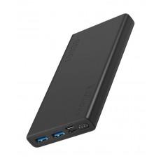 Promate Bolt-10 10000mAh Compact Smart Charging Power Bank - Black
