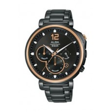 Alba Quartz 44mm Chronograph Gent's Metal Watch - AT3E12X1