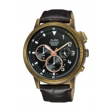 Alba 44mm Gents Analog Fashion Leather Watch Limited Edition - (AT3G40X1)