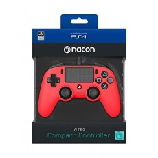 Bigben Nacon PS4 Wired Compact Controller - Red
