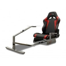 GTR Simulator Touring Model Simulator with Silver Frame and Adjustable Leatherette Racing Seat - Black/Red