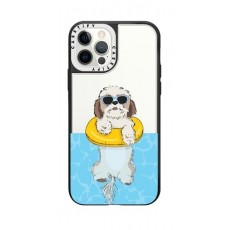 Casetify Swimming Shih Tzu iPhone 12 Pro Back Case - Clear