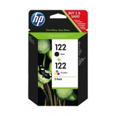 HP Ink 122 Black + Tri Color Combo Pack