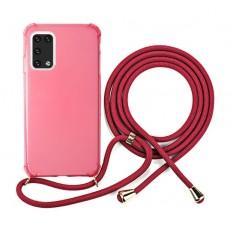 EQ Neck String Samsung Galaxy A02S 5G Case - Rose