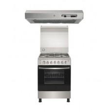 Frigidaire 60X60cm 4 Burner Gas Cooker + Wansa Cooker Hood