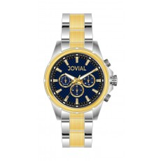Jovial GT2001-04 Casual Chronograph Gents Watch - Metal Strap - Silver