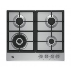 Beko 64225 SXL 60CM 4Burner Built-In Gas HOB - Stainless Steel